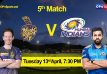 Kolkata Knight Riders vs Mumbai Indians 5th Match, KKR vs MI Live Cricket Score IPL 2021